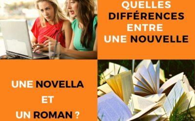 Quelles différences entre une nouvelle, une novella et un roman ?